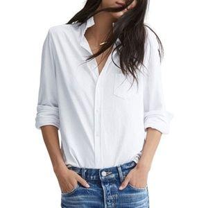 Women's Classic White Button Down Shirt NWT